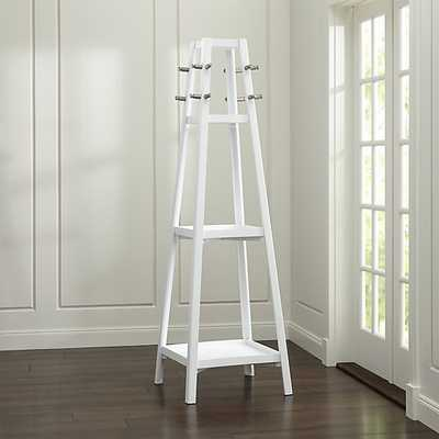Truro White Wood Standing Coat Rack - Crate and Barrel