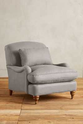 Linen Glenlee Chair - Flint - Anthropologie