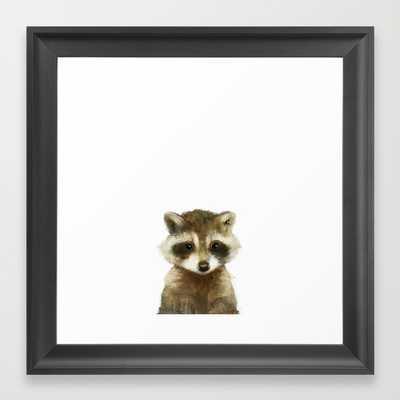 """Little Raccoon - Framed - 12"""" x 12"""" - Society6"""