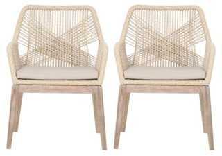 Natural Weaver Rope Armchair, Pair - One Kings Lane