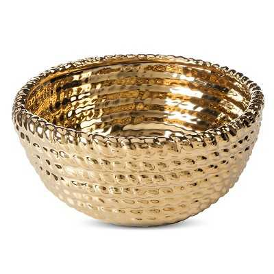 "Thresholdâ""¢ Ceramic Rope Bowl - Gold - Target"