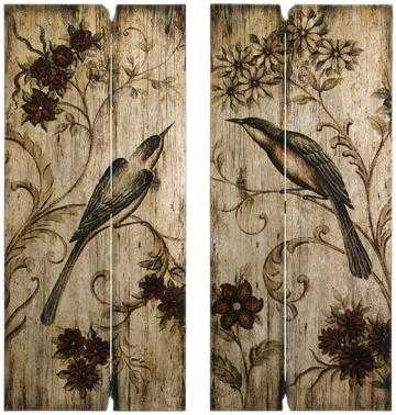 SONGBIRD WALL PLAQUES - SET OF 2 - Home Decorators