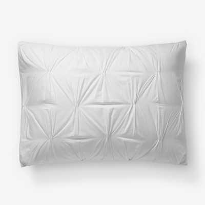 Organic Cotton Pintuck Duvet Cover + Shams (Standard Sham) - West Elm
