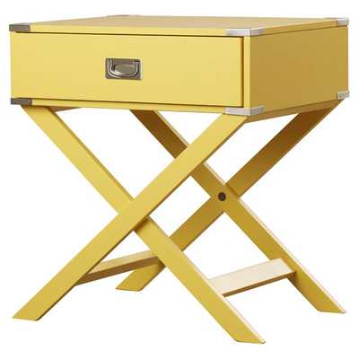 Neptune Campaign 1 Drawer End Table - AllModern