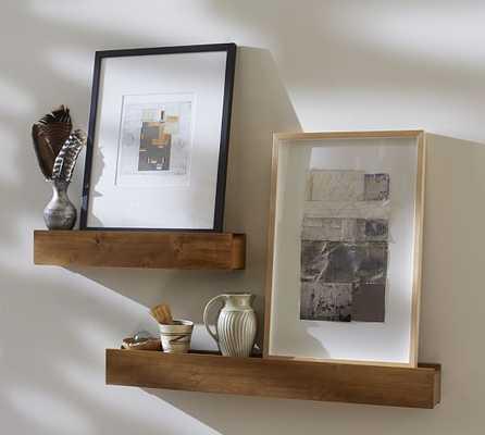 Rustic Wood Ledge  - 3' - Vintage spruce - Pottery Barn