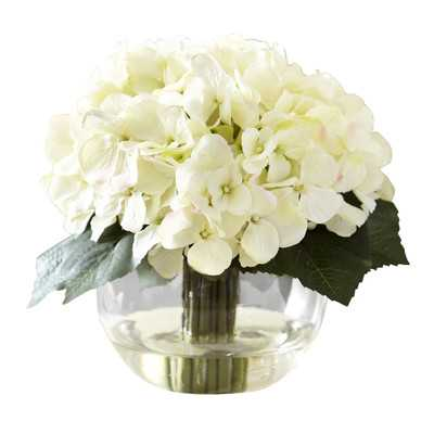 Faux White Hydrangea Bloom - Wayfair