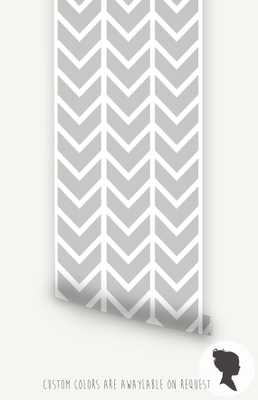 Self Adhesive Chevron Pattern Removable Wallpaper - Etsy