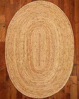 Edison Jute Oval Rug - NATURAL AREA RUGS