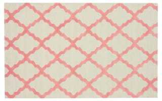 Criss Cross Rug, Pink - One Kings Lane