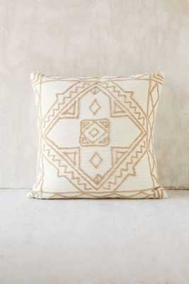 Magical Thinking Roya Crewel Tonal Pillow - Ivory - 18x18 - Insert not included - Urban Outfitters