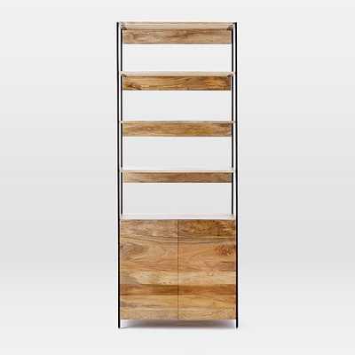 Rustic Modular Open + Closed Storage - West Elm