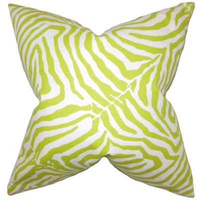 Oneanta Zebra Print Lime - Linen & Seam