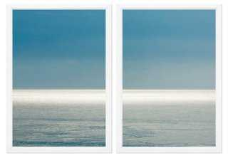 "Sea Horizon Diptych - Set of 2 - 36"" x 25"" -Framed - One Kings Lane"
