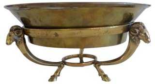 Brass Bowl on Rams Heads Support - One Kings Lane