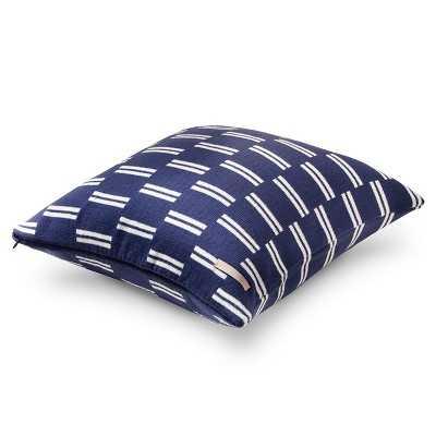 Brooklyn & Bond Monroe Stripe Pillow - Navy - 16x16 - With Insert - Target