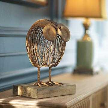WISELY OWL SCULPTURE - Home Decorators