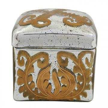 Aby Mercury Glass Decorative Box - Home Decorators