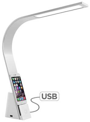 Mighty Bright Lux Brooklyn LED Desk Lamp with USBs - Lamps Plus