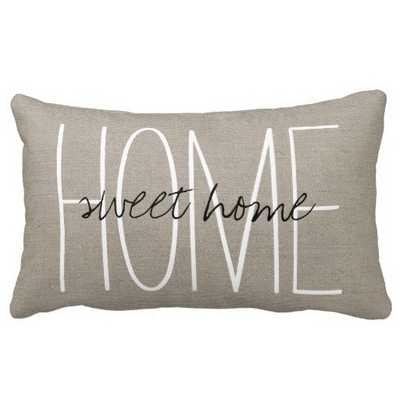 Rustic Chic Home Sweet Home Pillows - zazzle.com