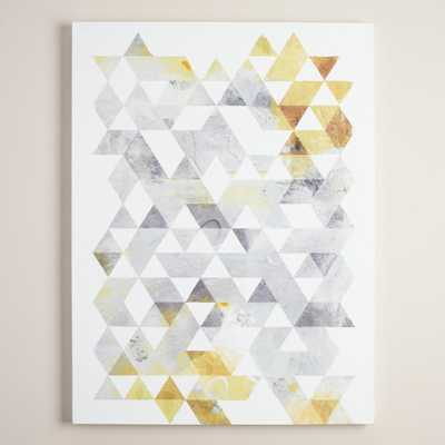 Gold and Gray Geo by Onrei - 30x40 - Unframed - World Market/Cost Plus