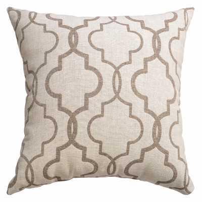"Ezra Tile Throw Pillow - 18"" H x 18"" W - Java, Feather down insert - Wayfair"