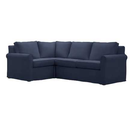 Cameron Roll Right  Arm Slipcovered 3-Piece Sectional with Corner - Pottery Barn