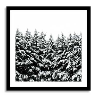 "Minted for west elm - Winter Black and White- 20""sq.- Framed - West Elm"