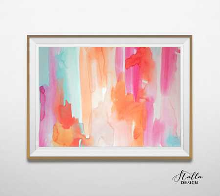 Watercolour giclee art print - A3 - Framed - Etsy