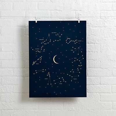 """Constellations Wall Art - 18""""Wx24""""H - Unframed-No Mat - Land of Nod"""