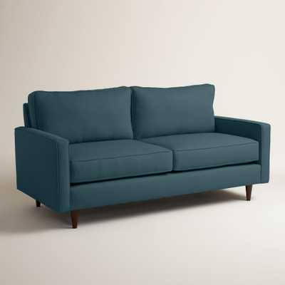 Textured Woven Nashton Upholstered Sofa - Azure - World Market/Cost Plus