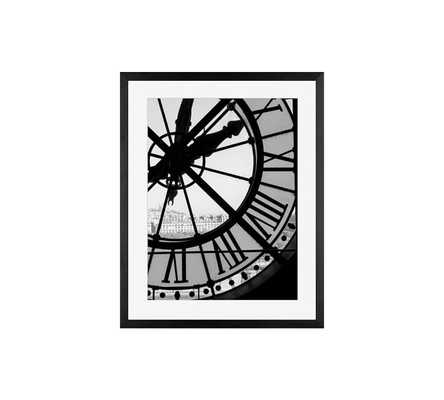 Clock at Musee d'Orsay Framed Print by Rebecca Plotnick - Pottery Barn