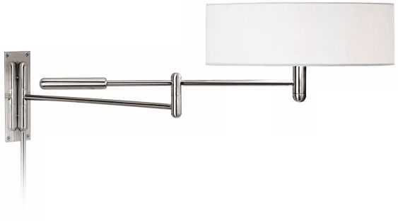 Sonneman Perno Polished Nickel Plug-In Swing Arm Wall Lamp - Lamps Plus