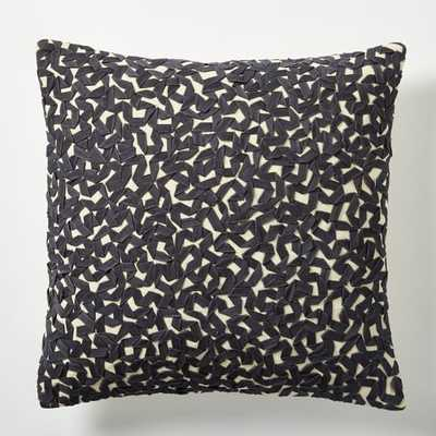 "Twill Ribbon Maze Pillow Cover - 16""sq. - Insert Sold Separately - West Elm"