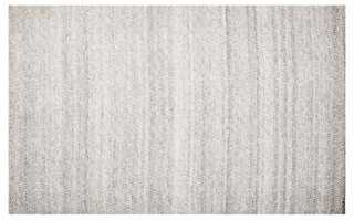 Andros Flat-Weave Rug, Graphite - 8' x 10' - One Kings Lane