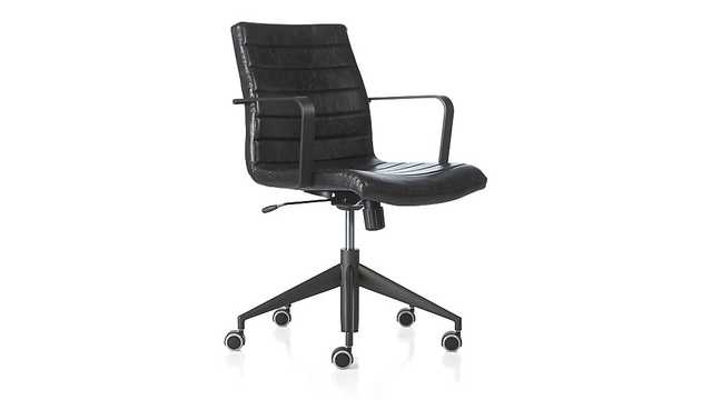 Graham Black Office Chair - Crate and Barrel