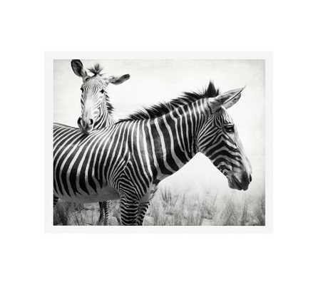 Zebras - 20x16, Framed - Pottery Barn
