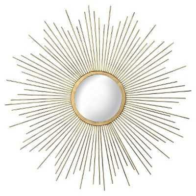 Metal Sunburst Mirror - Aged Gold - Target