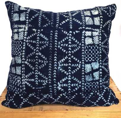 18 Inch Vintage Indigo African Mud Cloth Pillow Cover - no insert - Etsy