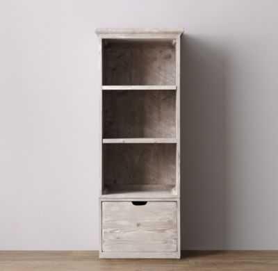 tribeca storage single bookcase set - weathered white - RH Baby & Child