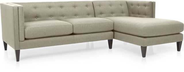 Aidan 2-Piece Sectional Sofa - Crate and Barrel