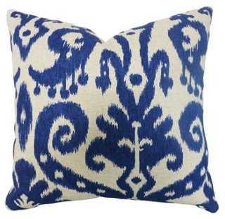 Bimini 20x20 Cotton Pillow, Blue, feather/down insert - One Kings Lane