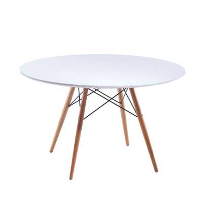 Paris Tower Round Table Wood Leg - Overstock