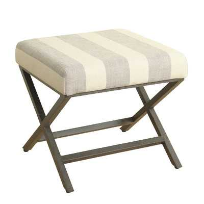 Striped Ottoman - Wayfair