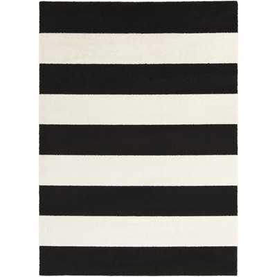 Horizon Charcoal & Ivory Striped Area Rug by Surya - Wayfair