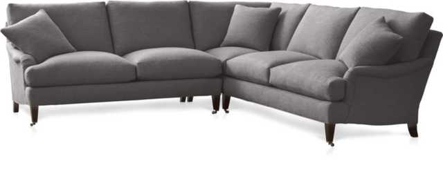 Essex 2-Piece Sectional Sofa with Casters - Crate and Barrel