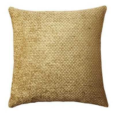 "Westfield Chenille Toss Gold Pillow 18""Sq, Polyster insert - Target"