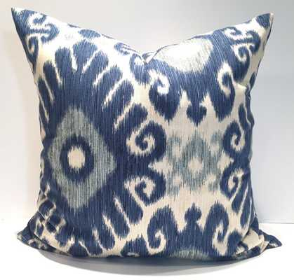 "Indigo Blue Pillow 18"" x 18"" insert sold separately - Etsy"