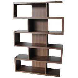 Furniture of America Karrise Walnut Display Shelf/ Bookcase/ Room Divider - Overstock