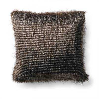 Exotic Faux Fur Square Pillow - Frontgate