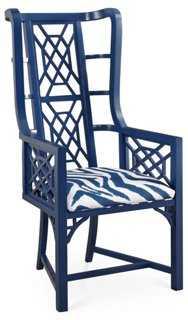 Kings Grant Chair, Navy Zebra - One Kings Lane